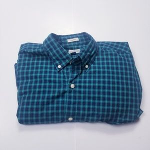JCrew Classic Green and Blue Dress Button Up